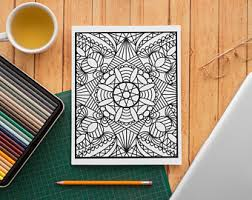 Zen coloring pages for kids. Zen Coloring Pages Etsy