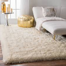 white shag rug in bedroom. NuLOOM Solid Soft And Plush White/ Grey Shag Rug (7\u00276 X 9\u00276) (White), Size 8\u0027 10\u0027 White In Bedroom