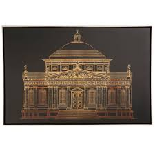 Architectural Gold Framed Print (W)900mm (H)600mm