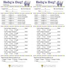baby daily report sheet child care daily reports printable forms childfun