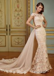 vintage embroidered lace fit flare wedding dress 117291 zerrin