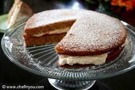 Eggless Vanilla Sponge Cake Recipe Sponge Sandwich Cake Chef In You