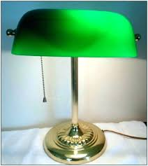 lamp desk lamp with green shade bankers vintage dark table shades