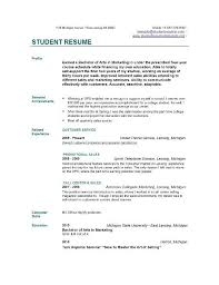 Resume For College Students Still In School Student