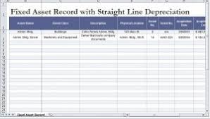 Fixed Asset Depreciation Calculator Straight Line Depreciation Calculator