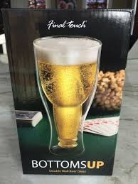 double wall beer glass enjoy your next tall cold one in this fun lightweight double walled glass double wall insulation prevents buildup of