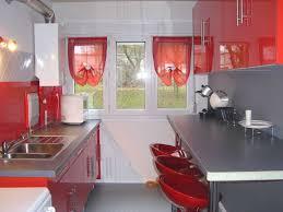 Cuisine Rouge Et Gris Moderne Tapis De Cuisine Rouge Et Gris Cuisine