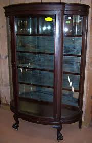 curio cabinets antique curved glass antique mahogany curved glass china cabinet claw by lightsandmore