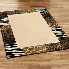 animal print area rugs safari collage border zebra rug brown black with animals on white