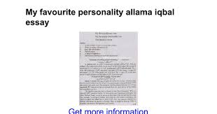 my favorite personality essay andreyeva eerc thesis pediatric  my favourite personality allama iqbal essay google docs