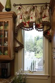 sink windows window love: this scalloped valance with bells amp jabots enhances the window nicely im assuming
