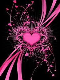 cool heart background pictures. Brilliant Background Pink U0026 Black Heart Intended Cool Background Pictures