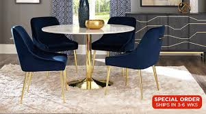 Steele Dining Table \u0026 4 Chairs in Navy Rooms :