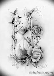 эскиз тату цветы на руку 3 Tatufotocom