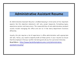 Objective Statement For Administrative Assistant Resume Resume Objectives For Administrative Assistant Example