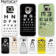 Eye Chart On Phone Maiyaca Test Eye Chart Luxury Quality Phone Case For Samsung S9 S9 Plus S5 S6 S6edge S6plus S7 S7edge S8 S8plus