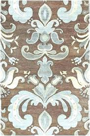 chocolate brown area rugs blue rug elegant and or contemporary