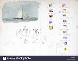 Flag Chart With Names Chart Of Yacht Racing Flag And Vessel Names With Sketch Of