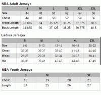 Nba Replica Jersey Size Chart Nba Replica Jersey Size Chart Nike Replica Basketball