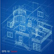 Exellent Architectural Design Blueprint Vector Background Part Of Project Plan Intended Modern