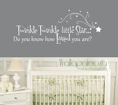 >twinkle twinkle little star wall decal nursery wall decal  zoom