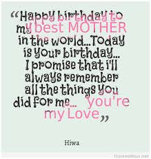 Mother Birthday Quotes Simple Birthday Quotes For Mother Friendsforphelps