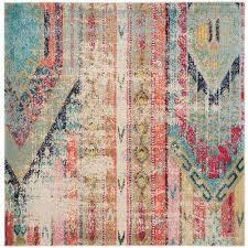 monaco multi 9 ft x 9 ft square area rug