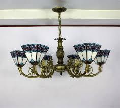 antique glass chandelier blue shape tiffany chandelier lighting european mediterranean