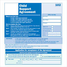 informal child support agreement child support agreement letter