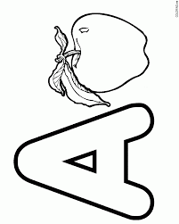 Small Picture Letter A Coloring Pages For Toddlers Miakenasnet