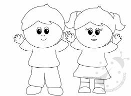 Disegni Colorati Bambini Che Si Salutano Migliori Pagine Da Colorare
