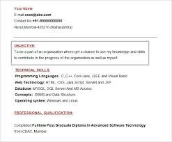 Objectives Of Resume For Freshers Best Of 24 Resume Objectives PDF DOC Free Premium Templates