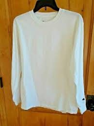 CHAMPION VINTAGE <b>T</b>-<b>SHIRT M LSLV</b> WHITE CREW NECK 100 ...