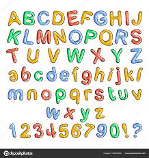 Bubble Letters Font Cartoon Bubble Font Bubble Letters With Glint Stock Vector