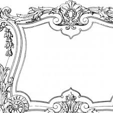 black vintage frame design. Fabulous Decorative French Frame Image! Black Vintage Design