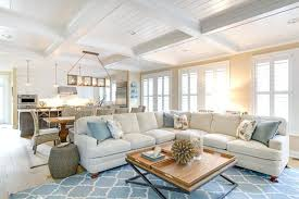 living room with blue accents rug living room beach with blue accents coastal decor coastal home