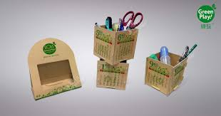 Diy Desk Organizer 2017 Kraft Paper Desk Organizer With Green Design Printed Creative