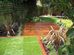 Small Picture Railway sleeper edging with central area Garden Pinterest
