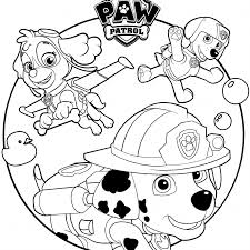 Paw Patrol Skye Coloring With Paw Patrol Coloring Pages Free