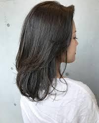 セミロングミディアムレイヤーカットの髪型20選ストレートパーマ
