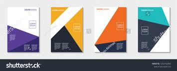 Set Of Abstract Cover Design Annual Report Pamphlet