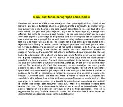 french past tense essay mes vacances gcse modern foreign document image preview