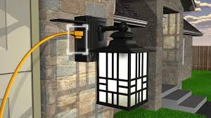 mission outdoor lighting fixtures. sunbeam led wall lantern with gfci and sensor outdoor lights outlet inspirations mission lighting fixtures f