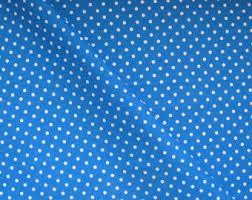 Polka dot fabric   Etsy & Polka Dot Fabric, Blue Cotton, Fat Quarter, Cotton Fabric FQ, Polka Dots Adamdwight.com