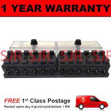 ldv camper io new 12 way universal standard 12v 12 volt atc blade fuse box clear camper van