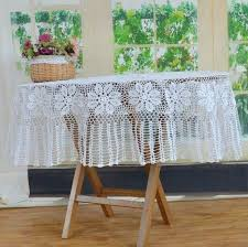 round lace table overlays free design handmade white covers rustic fl cloth cotton cloths in