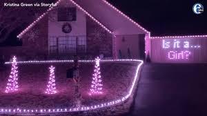 Christmas Light Tester As Seen On Tv Oklahoma Couple Use Christmas Light Display For Gender Reveal