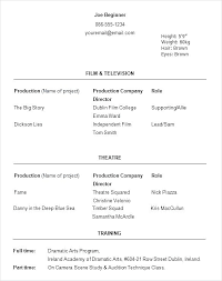 Acting Resume Examples Awesome Actor Resume Sample Acting Resume Examples Sample Child Actor Resume