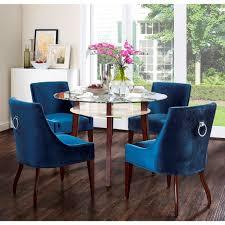 dover velvet dining chair  blue tov furniture  modern manhattan