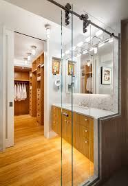contemporary sliding shower doors. new york sliding shower doors with frosted glass shade bathroom contemporary and stone slab backsplash under
